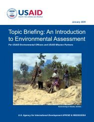 Topic Briefing - USAID: Africa Bureau: Office of Sustainable ...