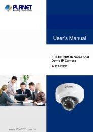 ICA-4200 Dome Camera User Manual