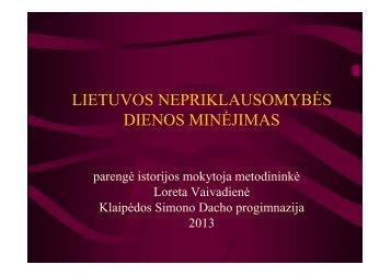 Lietuvos Nepriklausomybės dienos minėjimas 5-12 klasės mokiniams