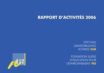 2006 - Education à l'environnement en Suisse