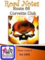Road Notes Oct2009.pdf - Route 66 Corvette Club
