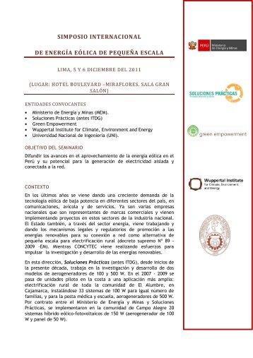 simposio internacional de energía eólica de pequeña escala