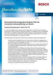 Universelle Fahrzeugsystem-Analyse FSA mit innovativer - Bosch