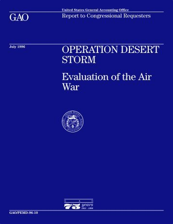 OPERATION DESERT STORM: Evaluation of the Air ... - Iraq Watch