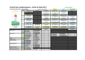 Mannschaftswettbewerb Festival 2011 - Cham