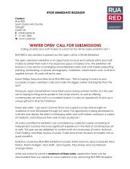 'winter open' call for subsmissions - Crafts Council of Ireland