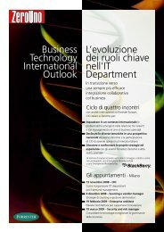 19 febbraio 2009 - Enterprise architect Evolvere l ... - ZeroUno