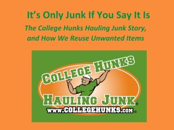 It's Only Junk If You Say It Is - Reuse Alliance