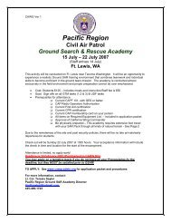 West Side - California Wing Cadet Programs