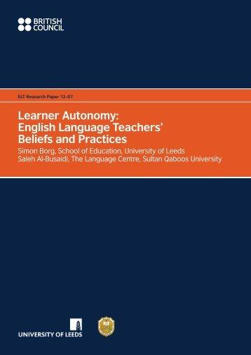 Learner Autonomy: English Language Teachers ... - EnglishAgenda