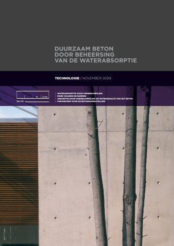 duurzaam beton door beheersing van de waterabsorptie - Febelcem