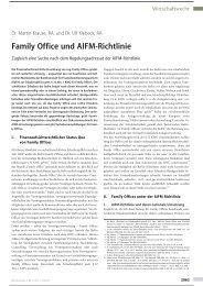 Family Office und AIFM-Richtlinie - Norton Rose