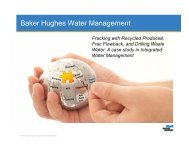 Baker Hughes Water Management - Drilling Engineering Association
