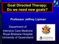 Goal Directed Therapy: Do we need new goals?