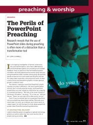 The Perils of PowerPoint Preaching - CECL - Green Lake ...