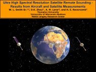 Ultra High Spectral Resolution - University of Wisconsin-Madison