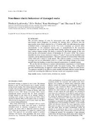 Non-linear elastic behaviour of damaged rocks - Geophysical ...