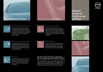 Mazda Original Fahrzeug- pflege