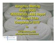"""Hangzhou Meeting Report SG02 """"INTERWOOLLABS Report ... - IWTO"""