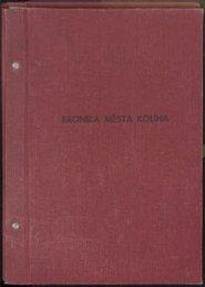 Kronika 1989 - Dějiny dobrovolné organizace Barevné ... - Kolín