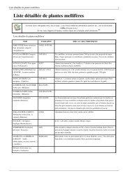 Liste des plantes mellifères - Ville de Saint Jean de Braye