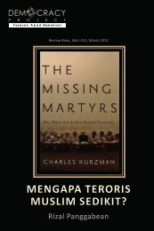 MENGAPA TERORIS MUSLIM SEDIKIT? - Democracy Project