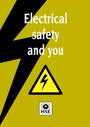 INDG 231 - Electrical safety and you - Torbay Council