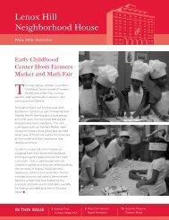 Fall 2012 Newsletter - Lenox Hill Neighborhood House
