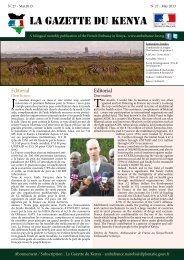 LA GAZETTE DU KENYA - Ambassade de France au Kenya