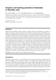 Sorption and leaching potential of herbicides on Brazilian soils
