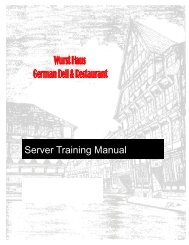 SERVER TRAINING MANUAL with washout - The Wurst Haus