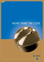 MORE THAN THE CORE - Corenso