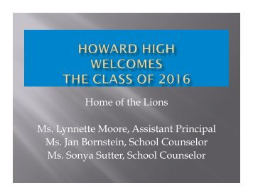 Rising Sophomores - Howard High