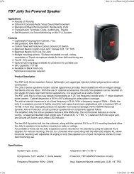 FBT Jolly 5ra Powered Speaker - AVsuperstore.com