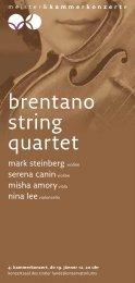 brentano string quartet - Meister & Kammerkonzerte