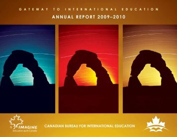 annual rePort 2009–2010 - The Canadian Bureau for International ...