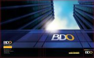 2011 Annual Report Financial Supplements - BDO