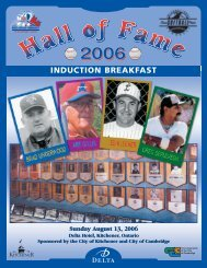 Hall of Fame Program - ISC