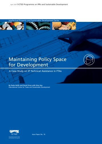 Maintaining Policy Space for Development - SARPN
