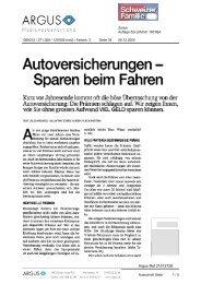 Autoversicherungen - Sparen beim Fahren - Comparis.ch