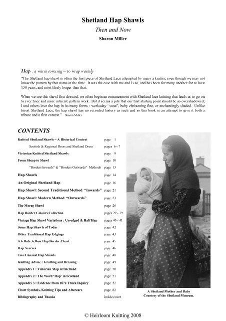 Shetland Hap Shawls - Heirloom Knitting