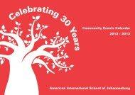 Celebrating 30 Years - American International School of ...