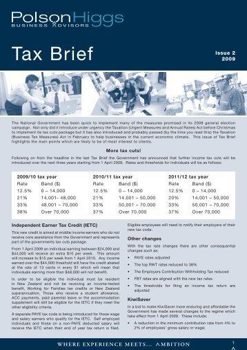 Tax Brief - Polson Higgs