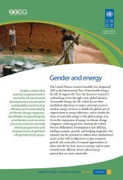 Policy Brief 3: Gender and Energy - Gender Climate