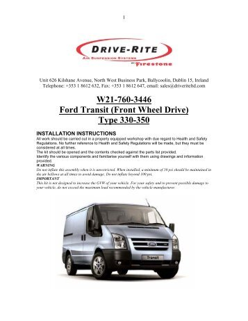 W21-760-3446 Ford Transit (Front Wheel Drive) Type 330-350