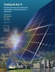 Tracking the Sun IV - Electricity Market and Policy - Lawrence ...