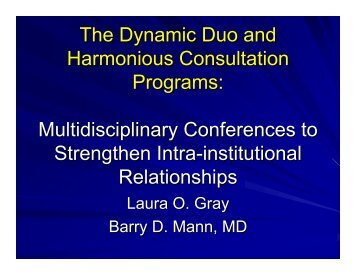The Dynamic Duo and Harmonious Consultation Programs ...
