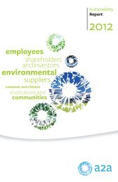 Sustainability Report - 2012 - A2A