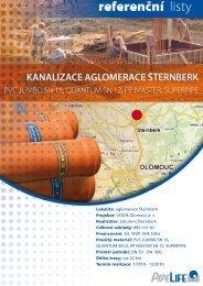 Kanalizace aglomerace Åternberk - Pipelife Czech s.r.o.