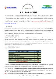 E D I T A L 01/2013 - Centro Cultural Thiago de Mello